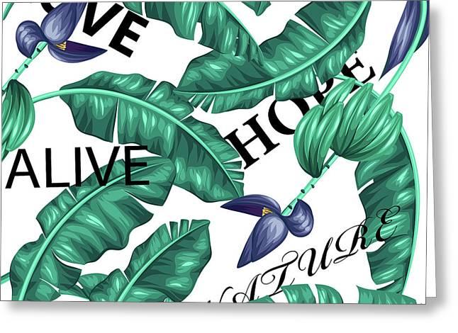 Tropical New  Greeting Card by Mark Ashkenazi