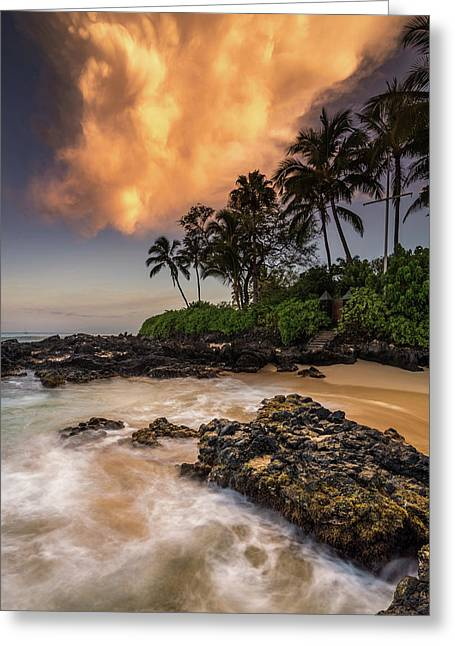 Greeting Card featuring the photograph Tropical Nuclear Sunrise by Pierre Leclerc Photography
