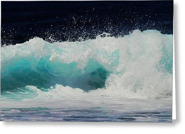 Tropical Ocean Surf Greeting Card by Scott Cameron