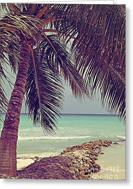 Tropical Ocean View Greeting Card