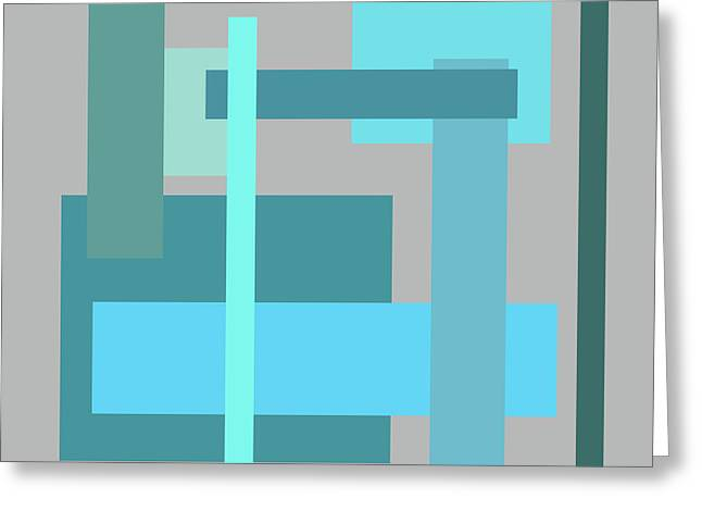Tropical Oceans Square Abstract Greeting Card