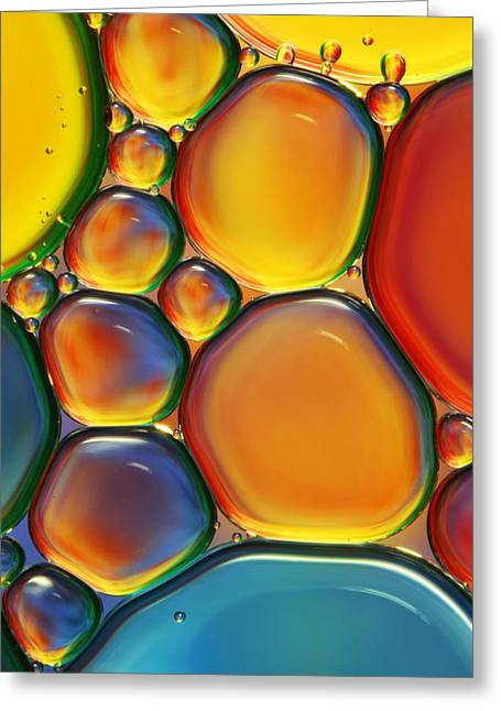 Abstract Greeting Cards - Tropical Oil and Water II Greeting Card by Sharon Johnstone