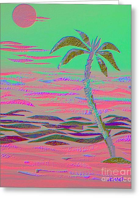 Hot Pink Coconut Palm Greeting Card