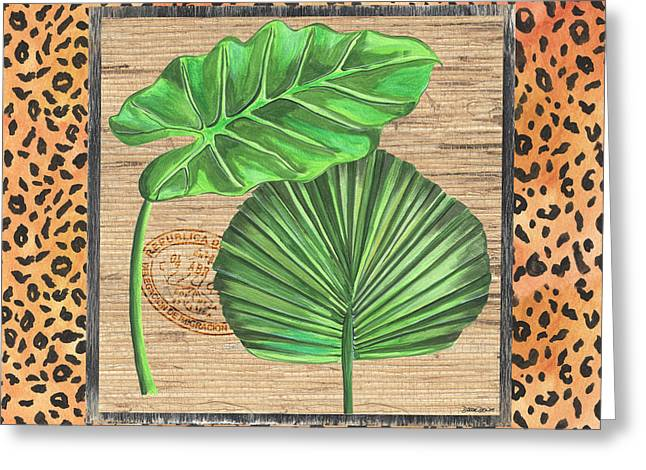 Tropical Palms 1 Greeting Card by Debbie DeWitt