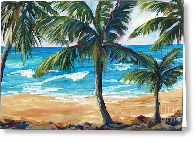Tropical Palms I Greeting Card