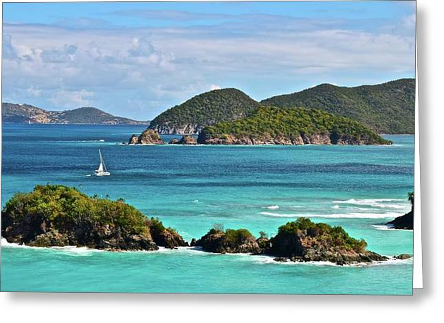 Tropical Panorama Greeting Card by Frozen in Time Fine Art Photography