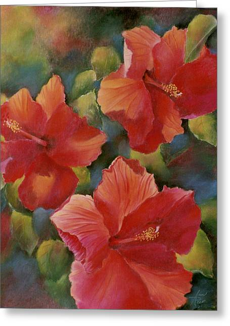 Greeting Card featuring the painting Tropical Punch by Ann Peck
