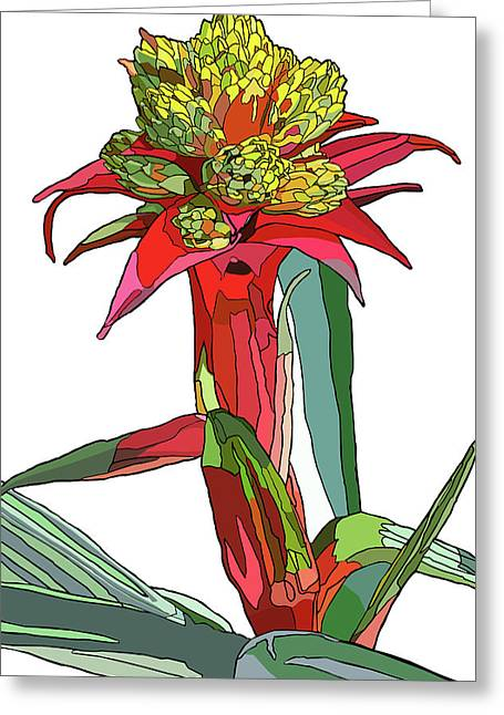 Tropical Reds Greeting Card