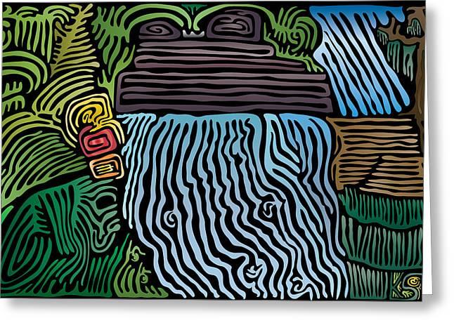 Tropical River Greeting Card