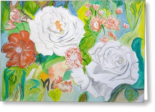 Tropical Rose Greeting Card by Cathy Jourdan