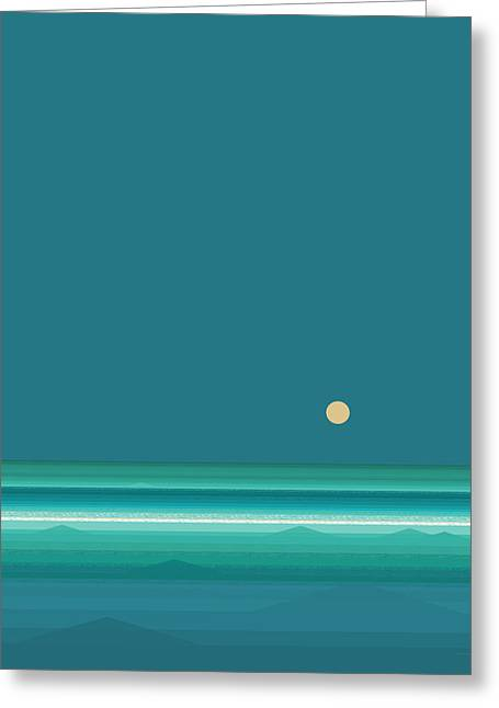 Tropical Sea Greeting Card by Val Arie