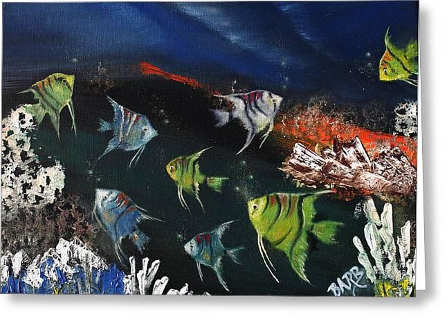Tropical Seaworld Greeting Card by Barbara Teller