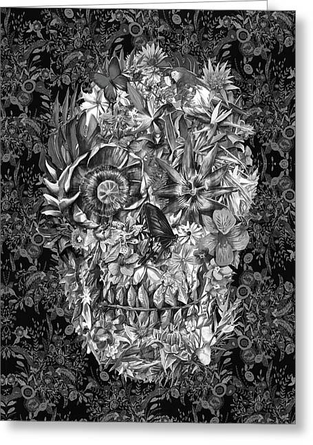 Tropical Skull 3 Greeting Card by Bekim Art