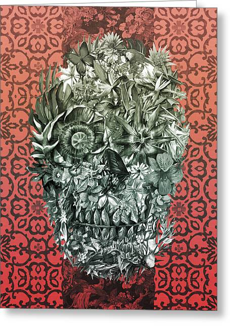 Tropical Skull 4 Greeting Card