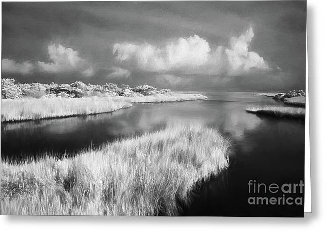 Tropical Storm Over Ocracoke Outer Banks Ap Greeting Card