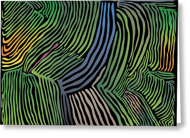 Tropical Striations Greeting Card