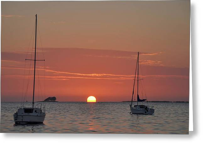 Tropical Sunset - Florida Greeting Card by Bill Cannon