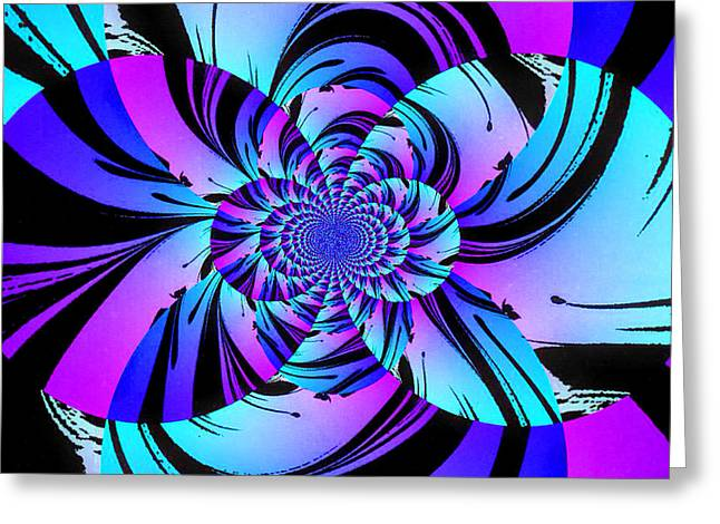 Greeting Card featuring the digital art Tropical Transformation by Kathy Kelly