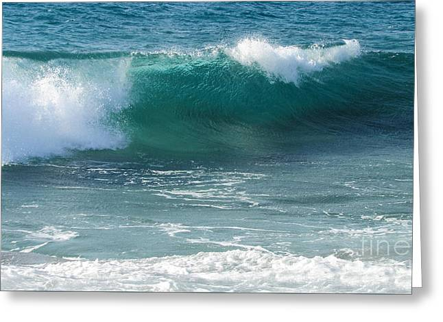 Tropical Treasure Coast Florida Seascape Wave 99 Greeting Card