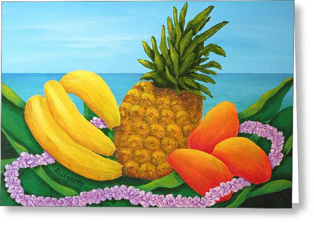 Tropical Trinity Greeting Card by Pamela Allegretto