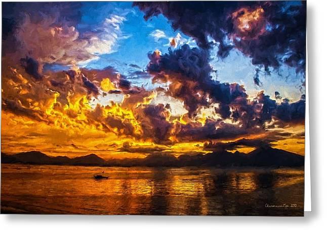 Tropical Twilight I Greeting Card