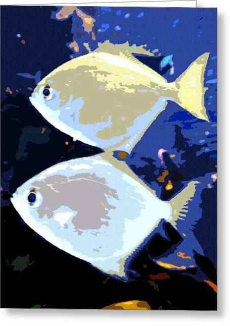 Tropical Twins Greeting Card by David Lee Thompson