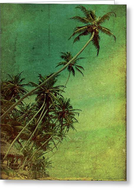 Tropical Vestige Greeting Card by Andrew Paranavitana