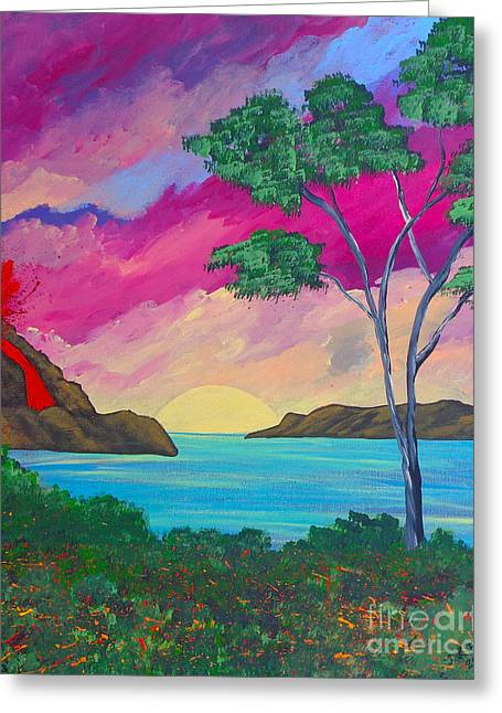 Tropical Volcano Greeting Card