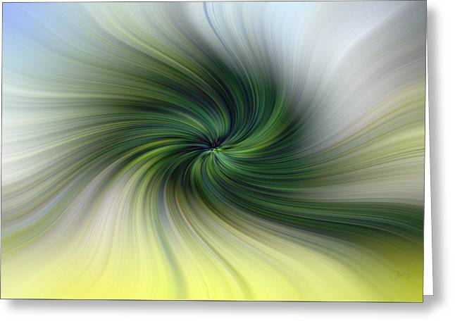 Tropical Vortex Greeting Card by Peter Hogg