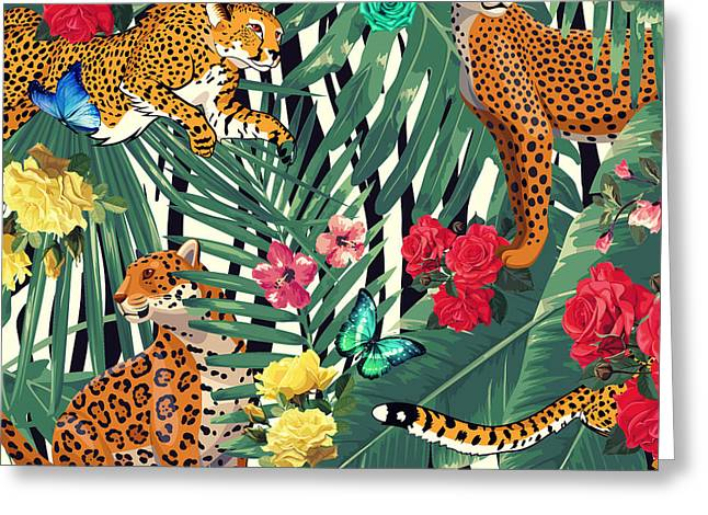 Tropical Wild  Greeting Card by Mark Ashkenazi
