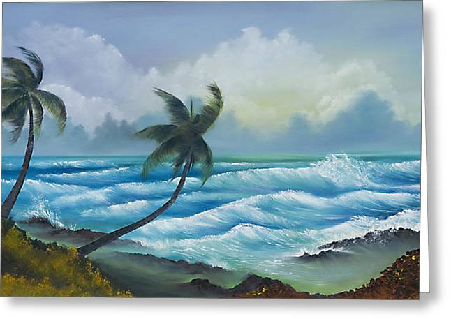 Tropical Wind Greeting Card by George Bloise