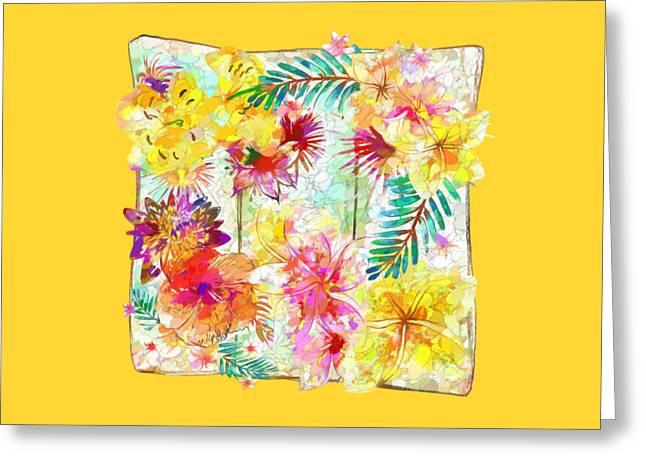 Tropicana Abstract By Kaye Menner Greeting Card by Kaye Menner