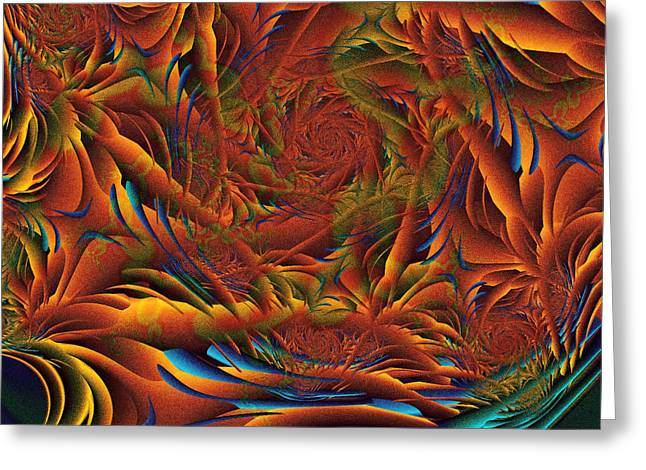 Greeting Card featuring the digital art Tropicana Fantasy by Richard Ortolano