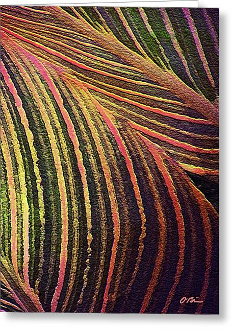 Tropicana Leaves Greeting Card by Claudia O'Brien