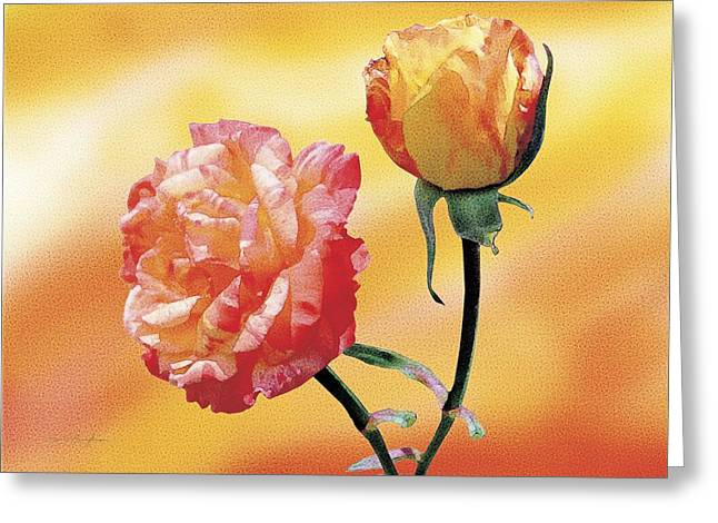 Tropicana Roses 2 Greeting Card by Jan Baughman