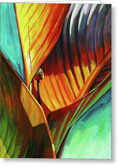 Tropicanna Canna Greeting Card by Lesley Spanos