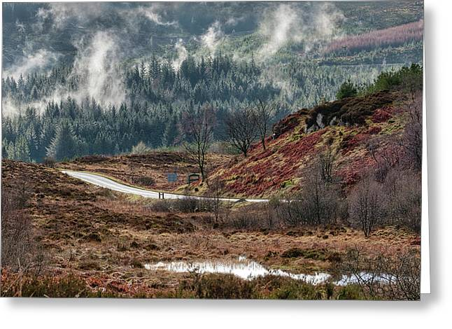 Greeting Card featuring the photograph Trossachs National Park In Scotland by Jeremy Lavender Photography
