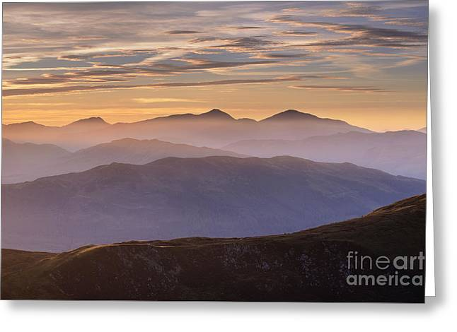 Trossachs Sunset 1 Greeting Card by Rod McLean