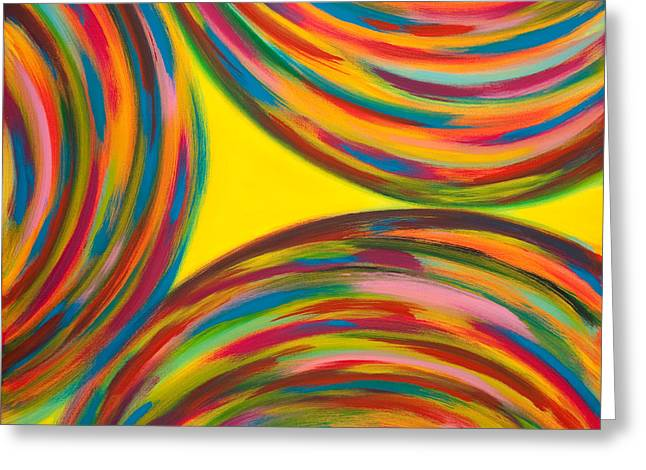 Spinning Top Paintings Greeting Cards - Trottole  Greeting Card by Monica Palermo