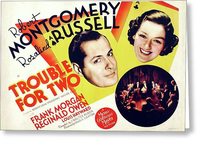 Trouble For Two 1936 Greeting Card by M G M