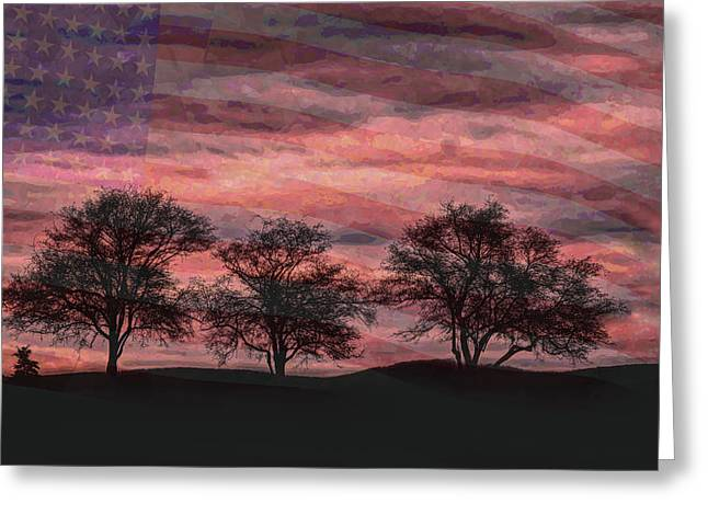 Troubled Nation Greeting Card by John M Bailey