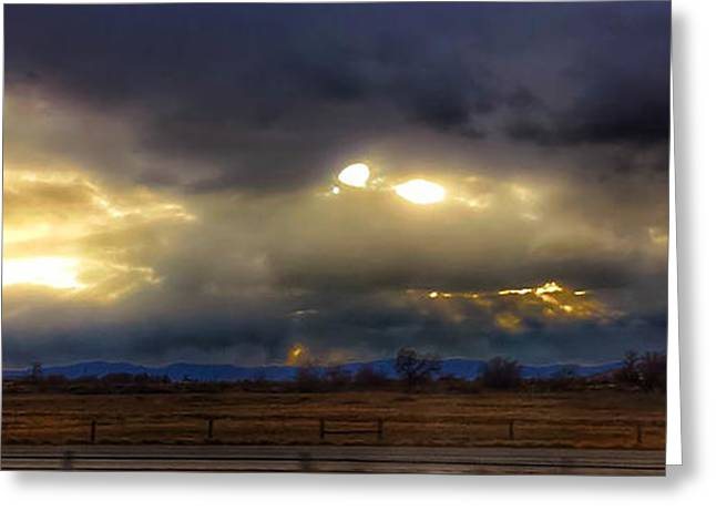 Troubled Skies Over Idaho Greeting Card