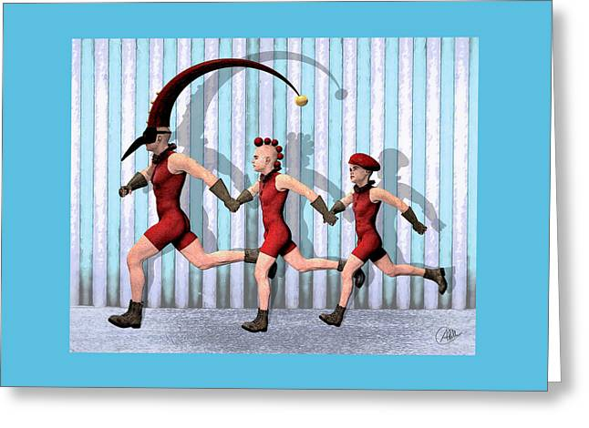 Troupe Family Greeting Card by Quim Abella