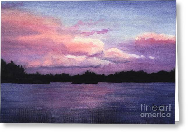 Trout Lake Sunset I Greeting Card