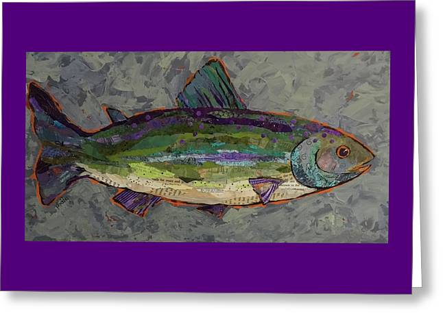 Trout Greeting Card by Phiddy Webb