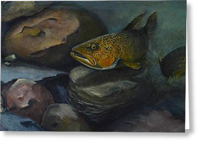 Trout River Rock Two Greeting Card