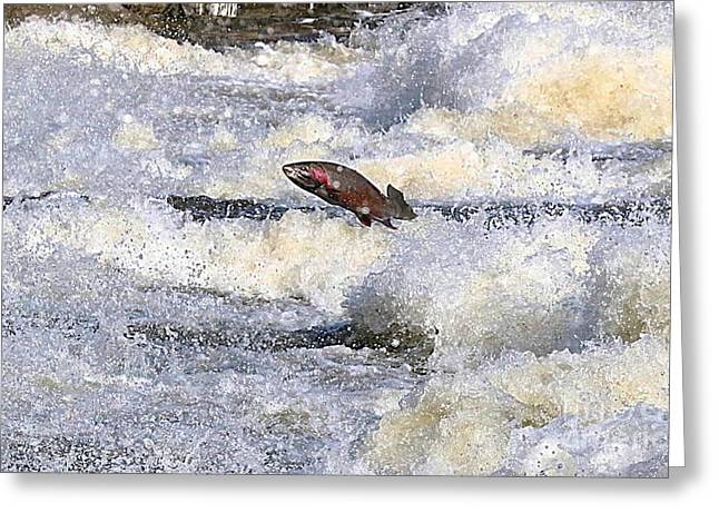 Greeting Card featuring the digital art Trout by Robert Pearson