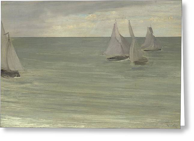 Trouville  Grey And Green, The Silver Sea Greeting Card by James Abbott McNeill Whistler
