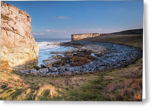 Trow Rocks Sea Bay Greeting Card by David Head