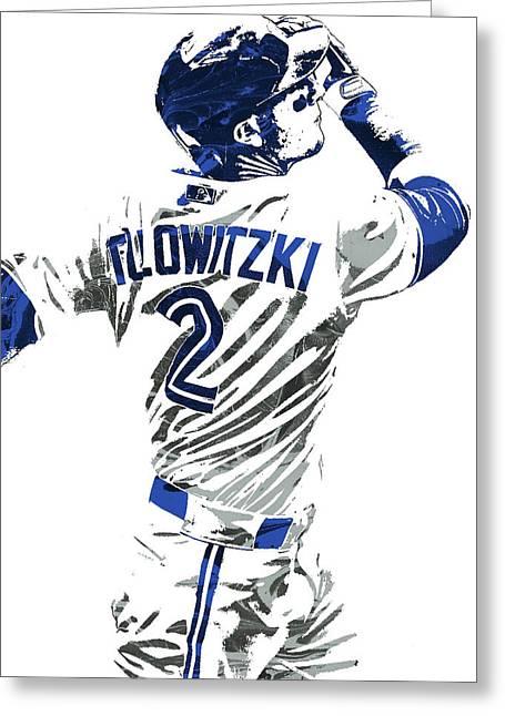 Greeting Card featuring the mixed media Troy Tulowitzki Toronto Blue Jays Pixel Art 2 by Joe Hamilton